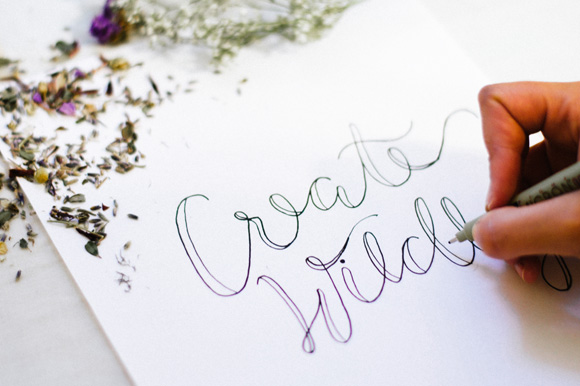 How To Create Faux Calligraphy A Giveaway