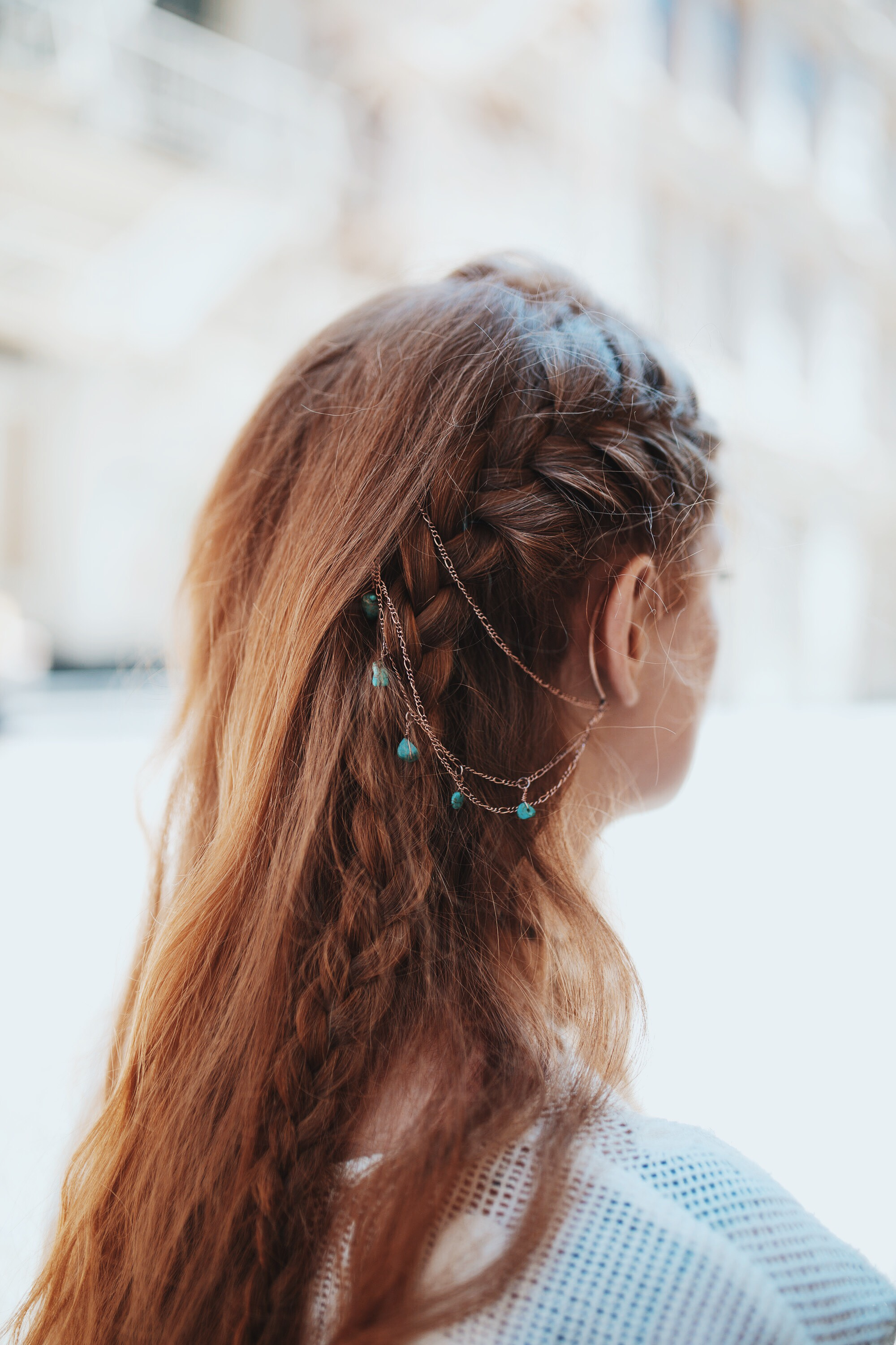 Post image for Suite Caroline Salon X Free People: Learn How To Style The Ear Cuff To Hair Chain
