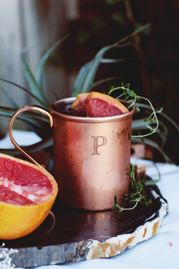 Post image for Cold Weather Cocktail: Winter-Ready Thyme & Citrus Moscow Mule