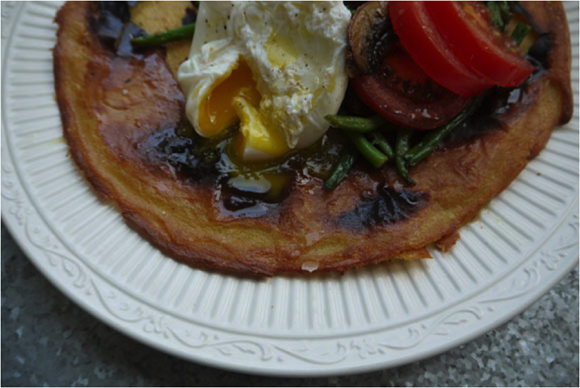 Post image for Vegan and Gluten-Free Chickpea and Rice Flour Pancakes