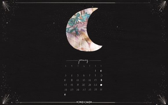 Post image for January Moon Calendar Download