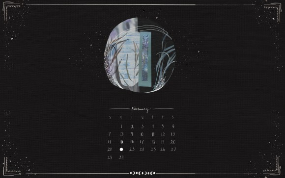 Post image for February Moon Calendar Download